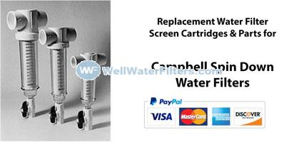 Campbell Spin Down Screen Water Filters